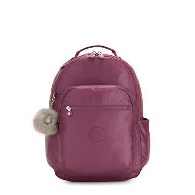 "Seoul Large 15"" Laptop Backpack - Fig Purple Metallic"