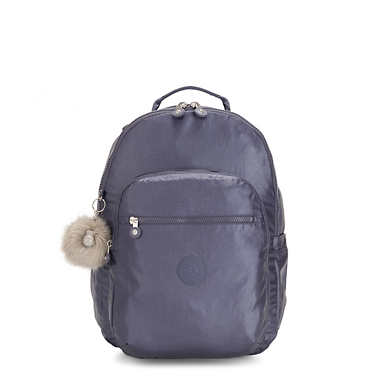 "Seoul Large 15"" Laptop Metallic Backpack - Enchanted Purple Metallic"