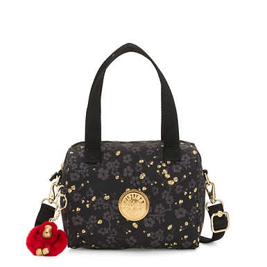 Keeya Printed Shoulder Bag - Grey Gold Floral
