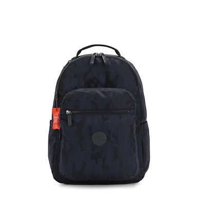"Seoul Large 15"" Laptop Backpack - Blue Camo"
