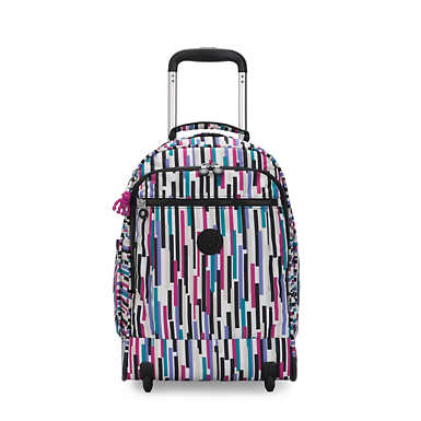 키플링 게이즈 랩탑 롤링 백팩 15인치 라지 Kipling Gaze Large Printed 15 Laptop Rolling Backpack,Urban Stripe