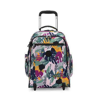 "Gaze Large Printed 15"" Laptop Rolling Backpack - Active Jungle"