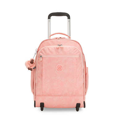 "Gaze Large Printed 15"" Laptop Rolling Backpack - Wild Palm"
