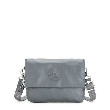 Osyka Metallic Convertible Crossbody Bag - Steel Grey