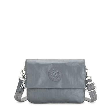 Osyka Metallic Convertible Crossbody Bag - Steel Grey