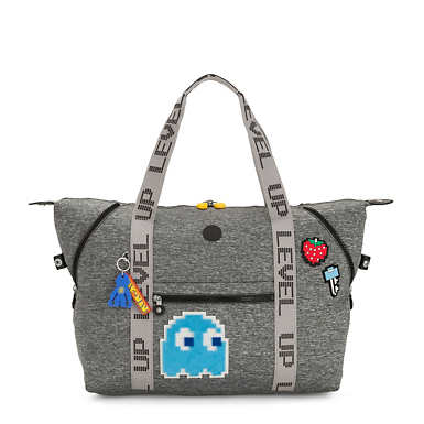 Pac-Man Art Medium Tote Bag - Melange Grey