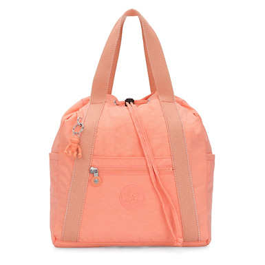 Art Small Tote Backpack - Peachy Coral