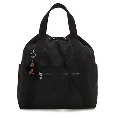 키플링 Kipling Art Medium Tote Backpack,True Black