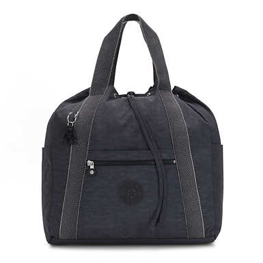 키플링 Kipling Art Medium Tote Backpack,Night Grey