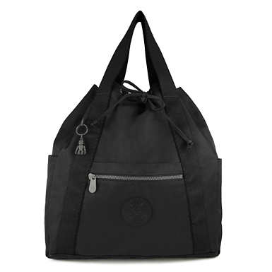 키플링 Kipling ArtMedium Tote Backpack,Rich Black