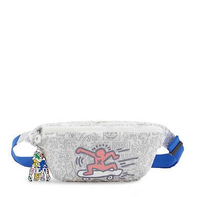 키플링 X 키스 해링 콜라보 프레쉬 웨이스트백 Kipling Keith Haring Fresh Waist Pack,Translucent