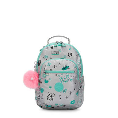 Seoul Small Metallic Tablet Backpack - Metallic Doodle