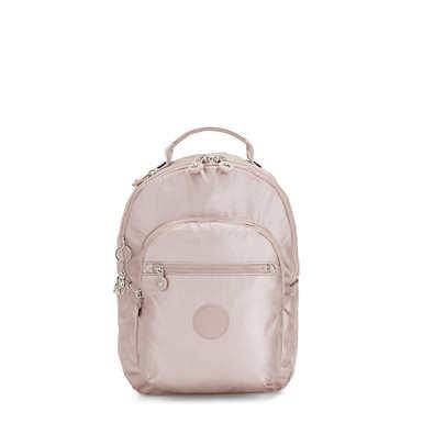 Seoul Small Metallic Tablet Backpack - Metallic Rose