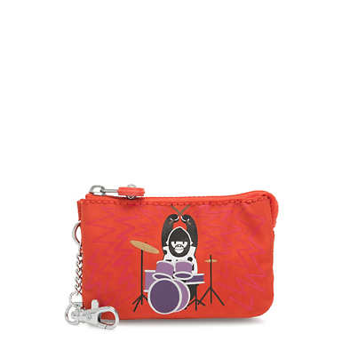 Creativity Mini Pouch Keychain - Drummer Monkey