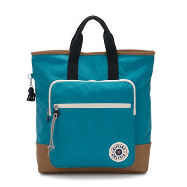 Sia Tote Backpack - Turquoise Sea Tan
