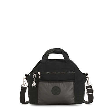 Meora Handbag - Metal Black
