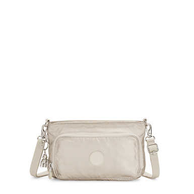 Myrte Convertible Metallic Bag - Cloud Metal