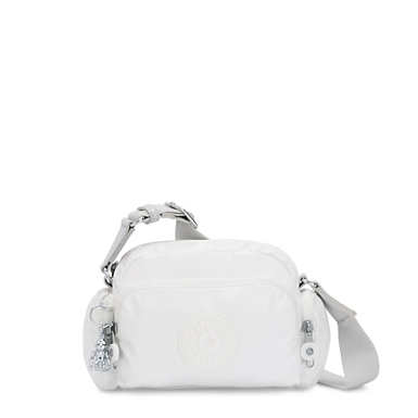 Jenera Mini Metallic Crossbody Bag - White Metal O