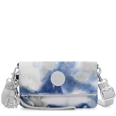 Lynne 3-in-1 Printed Convertible Crossbody Bag - Tie Dye Blue