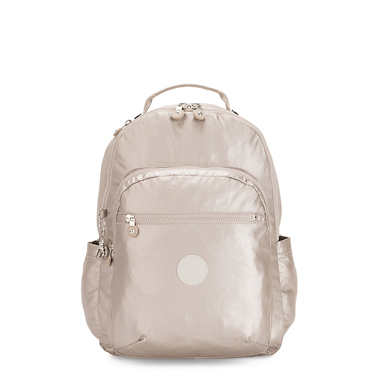 "Seoul Large 15"" Metallic Laptop Backpack - Metallic Glow"