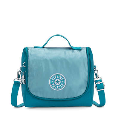 Kichirou Metallic Lunch Bag - Turquoise Sea Metallic Block