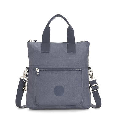Eleva Convertible Tote Bag - Navy Blue Twist