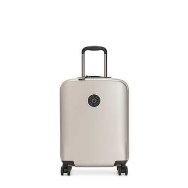 키플링 여행 하드 캐리어 스몰 Kipling Curiosity Small Metallic 4 Wheeled Rolling Luggage,Metallic Glow