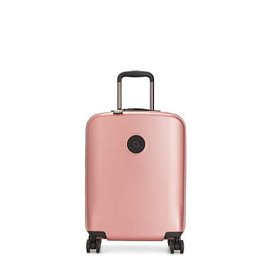 Curiosity Small Metallic 4 Wheeled Rolling Luggage