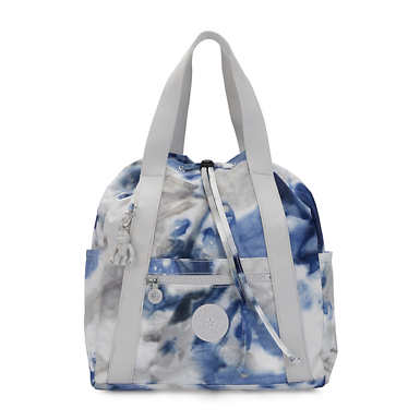 Art Small Printed Tote Backpack - Tie Dye Blue