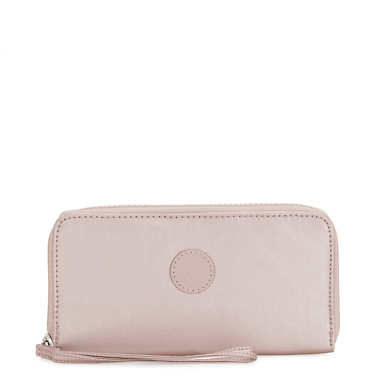 Imali Metallic Zip Around Wallet