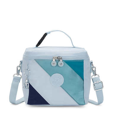 Graham Lunch Bag - Blue Mix Block