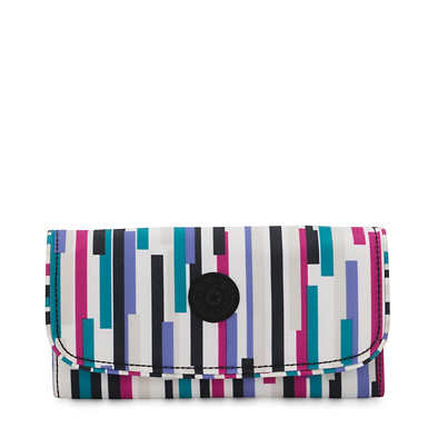 Money Land Printed Snap Wallet - Urban Stripe