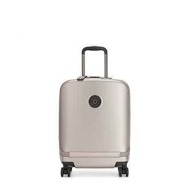 키플링 큐리오시티 롤링 캐리어 Kipling Curiosity Pocket Metallic 4 Wheeled Rolling Luggage,Metallic Glow