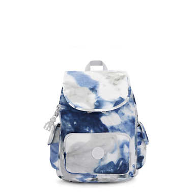 City Pack Small Tie Dye Backpack - Tie Dye Blue