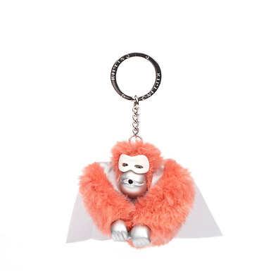 Monkey Keychain - Flashy Pink