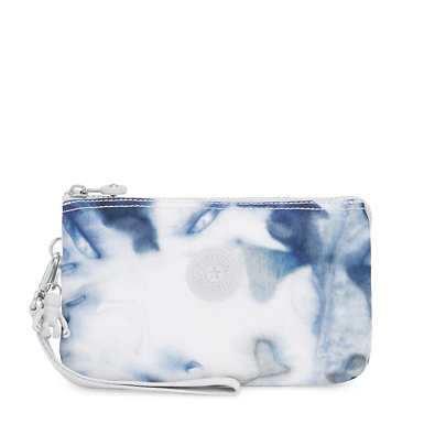 Creativity Extra Large Printed Wristlet - Tie Dye Blue