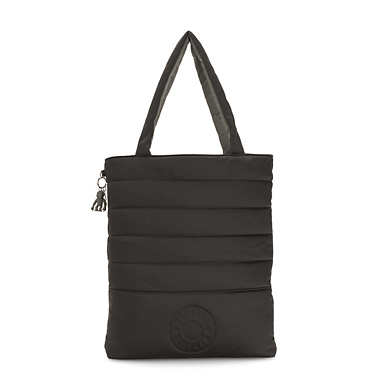 Double Puff Tote Bag - Mountain Black