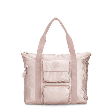 Asseni Extra Metallic Tote Bag - Metallic Rose