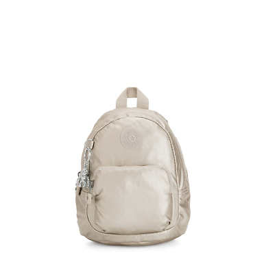 Glayla Metallic Convertible Mini Backpack - Cloud Metallic