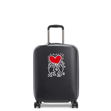 키플링 X 키스 해링 콜라보 롤링 캐리어 스몰 Kipling Keith Haring Curiosity Small 4 Wheeled Rolling Luggage,Public Art