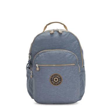 키플링 서울 백팩 라지 15인치 Kipling Seoul Large15 Laptop Backpack,Stone Blue