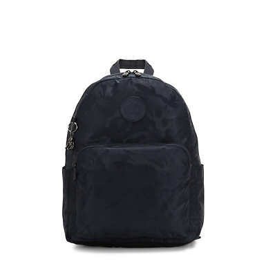 키플링 Kipling CitrineLaptop Backpack,Satin Camo Blue