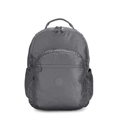 키플링 서울 가방 엑스 라지 17인치 Kipling Seoul Extra Large17 Laptop Metallic Backpack,Steel Grey Metal