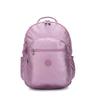"Seoul Extra Large Metallic 17"" Laptop Backpack - Metallic Berry"