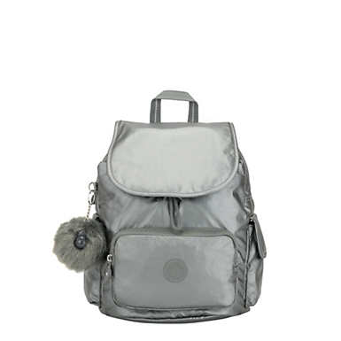 키플링 Kipling City PackSmall Backpack,Metallic Stony