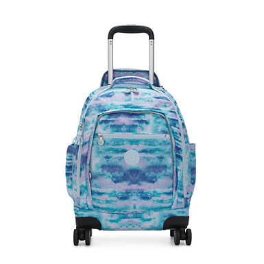 "Zea Printed 15"" Laptop Rolling Backpack - Joyful Play"