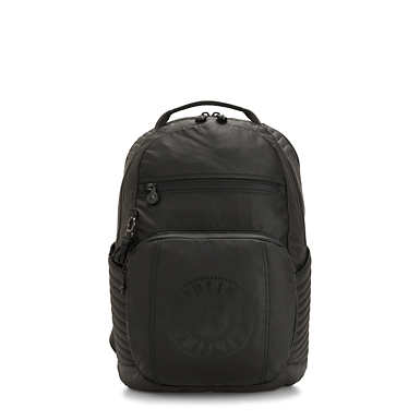 Troy Extra Laptop Backpack - Raw Black