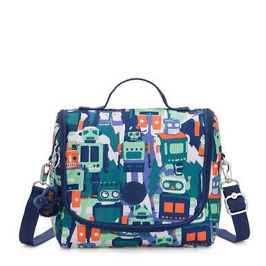 Kichirou Printed Lunch Bag - Robot Camo Blue