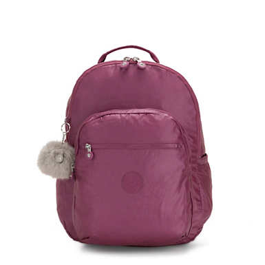 "Seoul Extra large Metallic 17"" Laptop Backpack - Fig Purple Metallic"