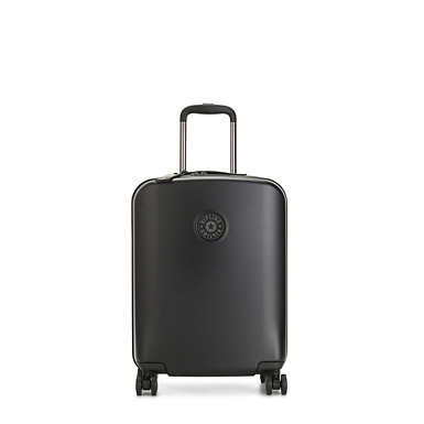 Curiosity Small 4 Wheeled Rolling Luggage - Black Noir